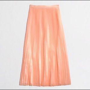 J. Crew pleated maxi skirt peach size 8